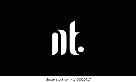 NT logo design template vector illustration minimal design