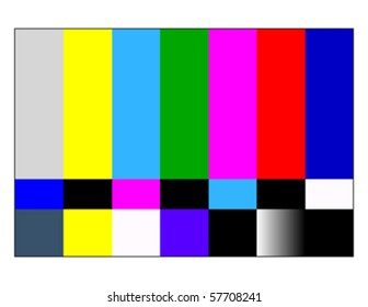 NTSC tv pattern signal for test purposes