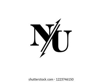 NU initials logo sliced