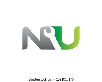 NU Letter logo or symbol template design