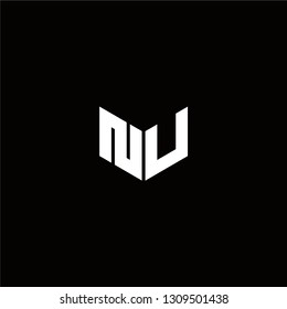 NU Logo Letter ininial Designs Templete