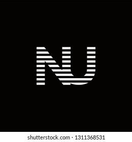 NU Logo Letter initial Designs Templete