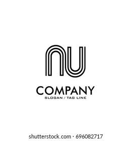 nu logo vector black color
