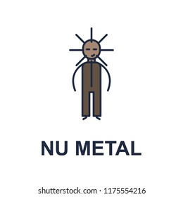 nu metal musician icon. Element of music style icon for mobile concept and web apps. Colored nu metal music style icon can be used for web and mobile