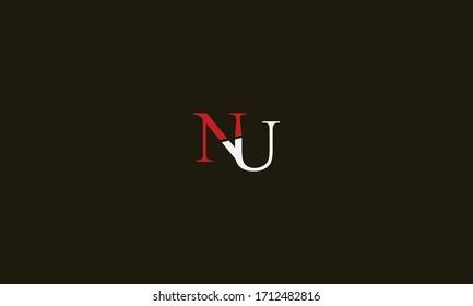 NU or UN letter logo. Unique attractive creative modern initial NU UN N U initial based letter icon logo