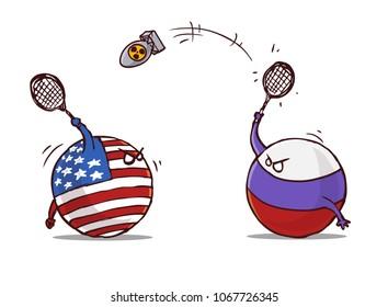 nuclear badminton russia versus usa