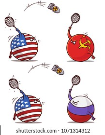 nuclear badminton ussr russia versus usa