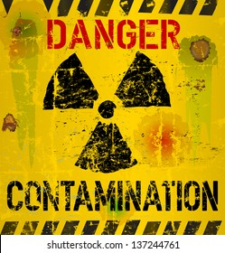 nuclear contamination warning sign, vector illustration