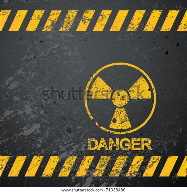 nuclear danger warning background