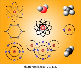 Nuclear elements and molecules on a gradient background