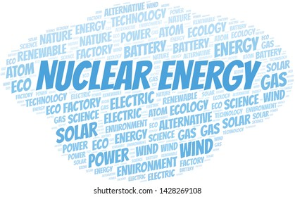 Nuclear Energy word cloud. Wordcloud made with text only.