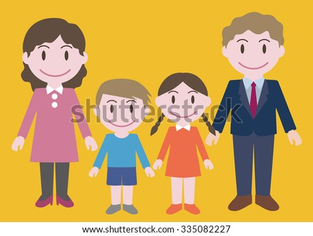nuclear family illustration stock vector royalty free 335082227