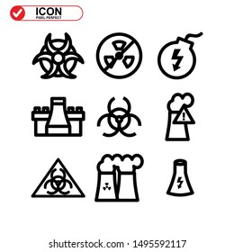 nuclear icon isolated sign symbol vector illustration - Collection of high quality black style vector icons