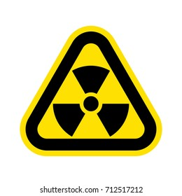 Nuclear pollution. Vector.