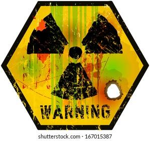 nuclear radiation sign, vector