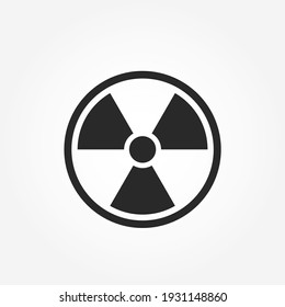 nuclear symbol. atomic and radiation sign. ecology and environment icon. isolated vector image in flat style