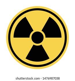Nuclear threat, radiation sign, vector illustration