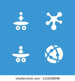 Nucleus icon. collection of 4 nucleus filled icons . editable nucleus icons for web and mobile.