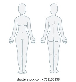 image relating to Printable Outline of Human Body Front and Back named Overall body Template Determine Status Shots, Inventory Photographs