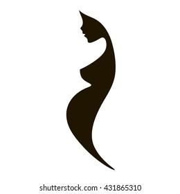 nude pregnant silhouette