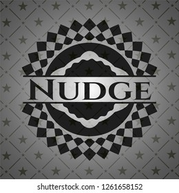 Nudge black emblem. Vintage.