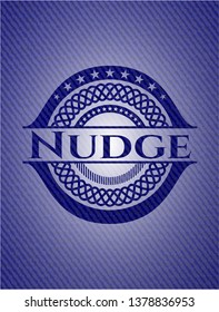 Nudge emblem with jean high quality background