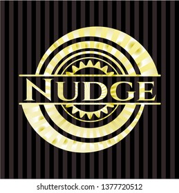 Nudge gold emblem or badge