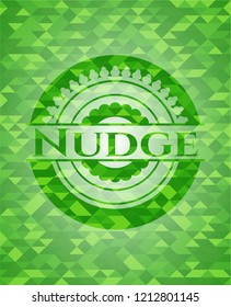 Nudge green mosaic emblem