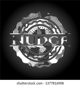 Nudge grey camo emblem