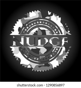 Nudge grey camouflaged emblem