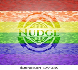 Nudge lgbt colors emblem