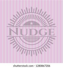 Nudge pink emblem. Vintage.