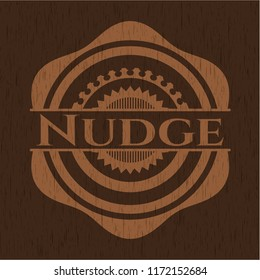 Nudge retro wood emblem