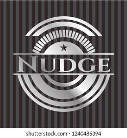 Nudge silver shiny emblem