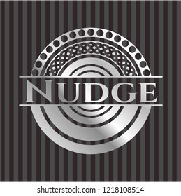 Nudge silvery emblem