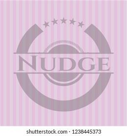 Nudge vintage pink emblem