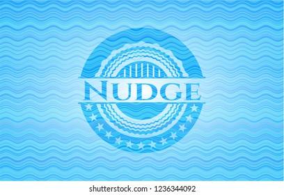 Nudge water wave representation badge.