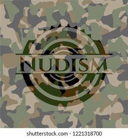 Nudism camo emblem