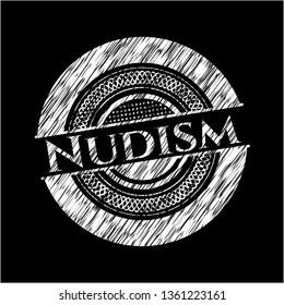 Nudism chalk emblem