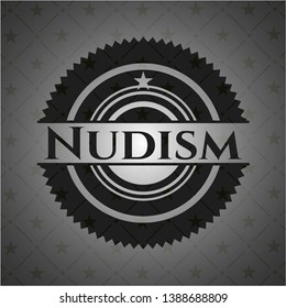Nudism dark badge. Vector Illustration. Detailed.