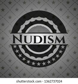 Nudism dark emblem