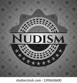 Nudism dark emblem. Vector Illustration. Detailed.