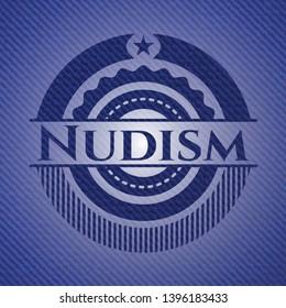 Nudism jean background. Vector Illustration. Detailed.