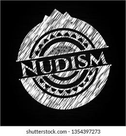 Nudism on chalkboard