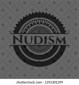 Nudism realistic dark emblem