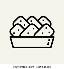 Nuggets concept line icon. Simple element illustration. Nuggets concept outline symbol design. Can be used for web and mobile UI/UX . Modern vector style