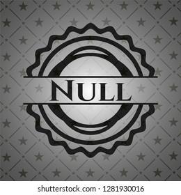 Null black emblem. Vintage.