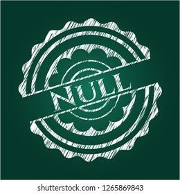 Null chalk emblem
