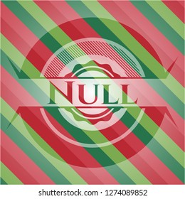 Null christmas colors emblem.