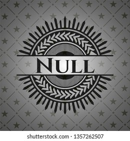 Null dark badge